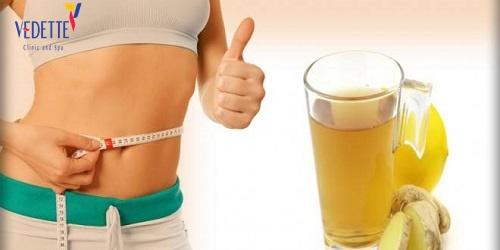 giảm mỡ bụng sau sinh bằng gừng