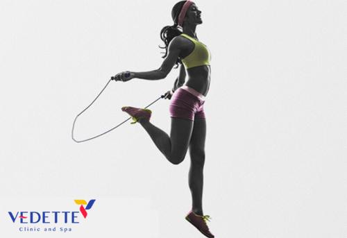 giảm mỡ toàn thân bằng nhảy dây