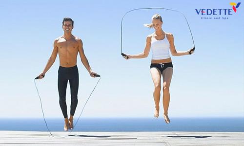 nhảy dây có giảm béo bắp chân không